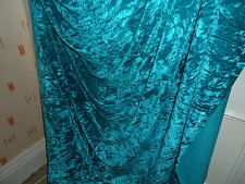 5 MTR  QUALITY TURQUOISE ICE CRUSHED  VELVET FABRIC..58 INCHES WIDE