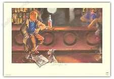 Affiche Esteve Fort Hommage Tintin au bar 68x98 cm