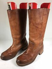 Frye Campus Boots 77050 Saddle Made in USA Women's Size 8 M