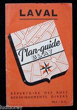 LAVAL PLAN 1950/60 ? GUIDE BLAY CARTOGRAPHIE VILLE PAYS DE LA LOIRE MAYENNE 53