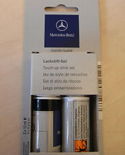 Genuine Mercedes Touch Up Paint Stick Cosmos Black Metallic 9191 Clear Coat 191U