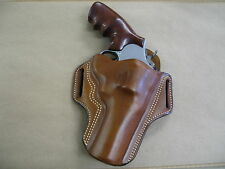 """Smith & Wesson S&W 29, 629 4"""" Leather 2 Slot Pancake Belt Holster CCW  TAN RH"""
