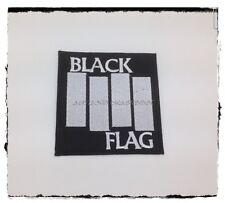 New BLACK FLAG Sew Iron On Patch Embroidered Heavy Metal Rock Band Music Logo