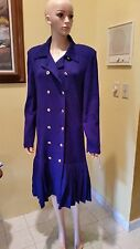 ST. JOHN COLLECTION BY MARIE GRAY PURPLE/AMETHYST DRESS  SIZE 12