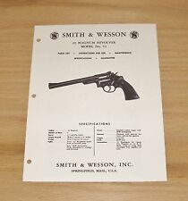 Smith & Wesson  .22 Magnum Revolver Manual - Model 53 - #SW20