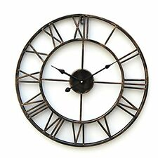 Big Large Wall Clock 20Inch Oversized Iron Howard Miller Quartz Antiqued Clock