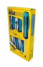 Vessel 905 ISZ Screwdriver Set Slotted/Pozidriv MEGADORA Std JAWSFIT 5 Piece