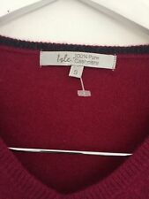 ISLE 100% Cashmere V Necked JUMPER SZ Small Approx 10