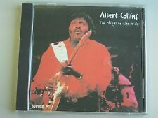 ALBERT COLLINS- The Things He Used to Do CD (1994) RARE Blues Guitar Live?