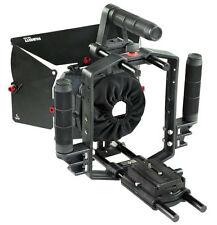 Filmcity Matte Box Mattebox for DSLR 15mm Rod Rail Support Rig Top cage handle