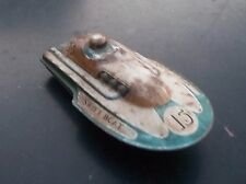 Swift Boat Vintage Tin Friction Toy Speed Boat Japan