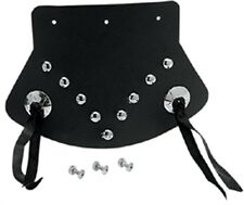 Black Studded w/ Conchos Mud Flaps 9.5 x 6.5 for Most Harley 78081080