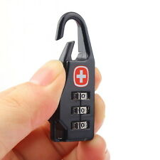 High 3 Digit Mini code Metal Combination Travel Luggage Lock Padlock Password BG