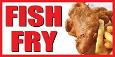 2'x4' FISH FRY BANNER SIGN deep fried chips fry friday