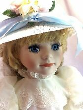"Kingstate Dollcrafter Lynn w/ Blue Eyes 16"" Porcelain Bisque Handpainted Doll"