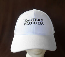 EASTERN FLORIDA STATE COLLEGE Hat Cap WHITE Adjustable BREVARD COUNTY Adidas