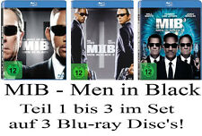 3 Blu-ray's * MIB - MEN IN BLACK - TEIL 1 - 3 IM SET # NEU OVP