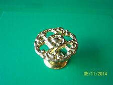 "VICTORIAN DRAWER KNOBS ANTIQUE STYLE, 1 1/2"" DIA. SOLID BRASS"