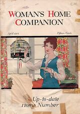 1915 Woman's Home Companion April-Coles Phillips; Hamelin Town;Singing sincerely