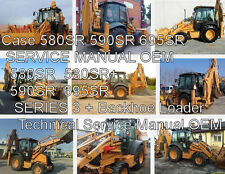 Case 580sr 590sr 695sr Loader Backhoe  Service Repair  Manual CD 1000 Pgs.