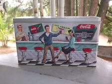 1997 COCA COLA Soda Fountain Collectible Metal Tin Box