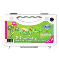 Blue Diamond Daisy Tent Awning Camping Pegs x 20 With Flower Heads & Peg Cleaner