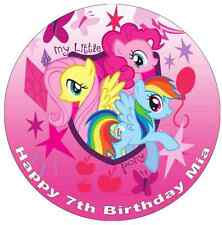 "My Little Pony Personalised 7.5"" Cake Topper Edible Wafer Paper"