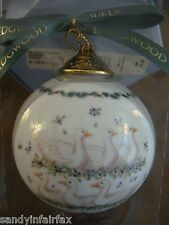 Wedgwood ~ Geese ~ 6th Day of Christmas Ball Ornament ~ 12 Days Series ~ MIB