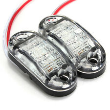 2pcs 12V LED Car Side Marker Tail Lamp Clearance Trailer Truck White Light New