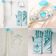 4pcs cosplay Couronne Tiara accessoire de cheveux perruque de la couronne + baguette magique pour Elsa Anna F7