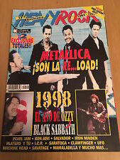 REVISTA HEAVY ROCK # 173 Enero 98 Portada METALLICA, OZZY, BLACK SABBATH