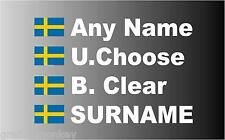 """SMALL"" Swedish Rally Car Name decal sticker graphics"