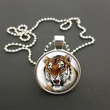 "Tiger Pendant On 18"" (Or Any Size)  Ball Chain Necklace Birthday Gift N36"