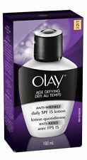 OLAY Age Defying Anti-Wrinkle Daily SPF 15 Lotion 3.40 oz (Pack of 3)