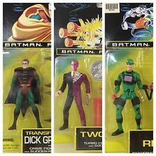 1995 Batman Forever DICK GRAYSON TWO-FACE and THE RIDDLER Kenner NOS Vintage