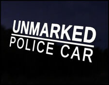 Unmarked Police Car Decal Sticker JDM Vehicle Bike Bumper Graphic Funny