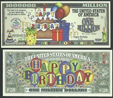 HAPPY BIRTHDAY BALLOONS ONE MILLION WISHES -Lot of 2 Bills