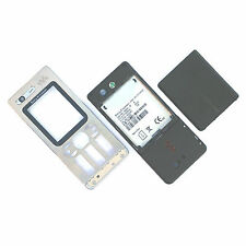 Genuine Sony Ericsson W880 fascia housing Silver+camera glass+battery cover