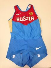 Nike Women's RUSSIA 2012 Olympic Turbospeed Running Speedsuit Sz.S NEW KLISHINA