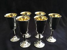 "Set of 6 International Sterling Silver Footed Cups, Shot Glass, 3 1/2"" T, 180 g"