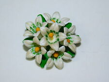 Vintage Mid Century Plastic Celluloid Spring Easter Lily Flower Brooch Pin 3e 2