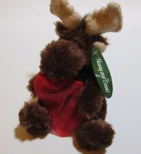 "Animal Adventure Moose plush Harry and David  8"" with red gift bag NEW with tag"