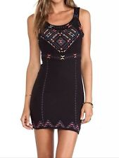 Free People NWT Song of the South Cut-Out Bodycon Dress - Black Sz L. ($148)
