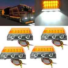 4x Amber 15-LED Lamp Truck Trailer ATV UTE Cab Clearance Side Marker Lamp 12/24V