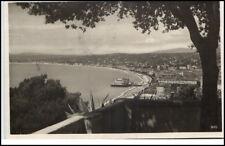 Nice Nizza France Frankreich CPA 1933 Gesamtansicht Meer mit Stempel Monte Carlo