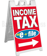 Signicade A-Frame Sign Sidewalk Pavement Sign - INCOME TAX E-FILE rb