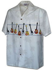 Guitar Hawaiian Rock and Roll Music Aloha Shirt (Made in Hawaii)