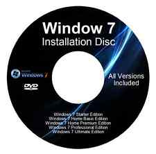 Windows 7 32&64 Bit Reinstall With Driver Disk All versions Windows 7 included!!