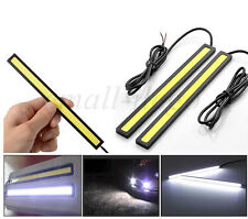 2xCar DRL Fog LED Lights Strip Daytime Running COB Bright Drive Lamp Waterproof