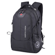 "Swiss Men Women 17"" Laptop Notebook Backpack Computer Outdoor School Travel Bag"